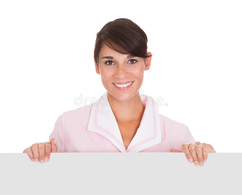 Download Young Maid With Bill Board stock image. Image of empty - 34957339