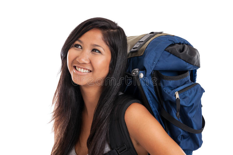 Download Young Malaysian backpacker stock image. Image of female - 25598589