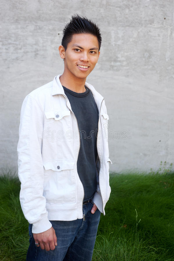 Young male asian student stock photography