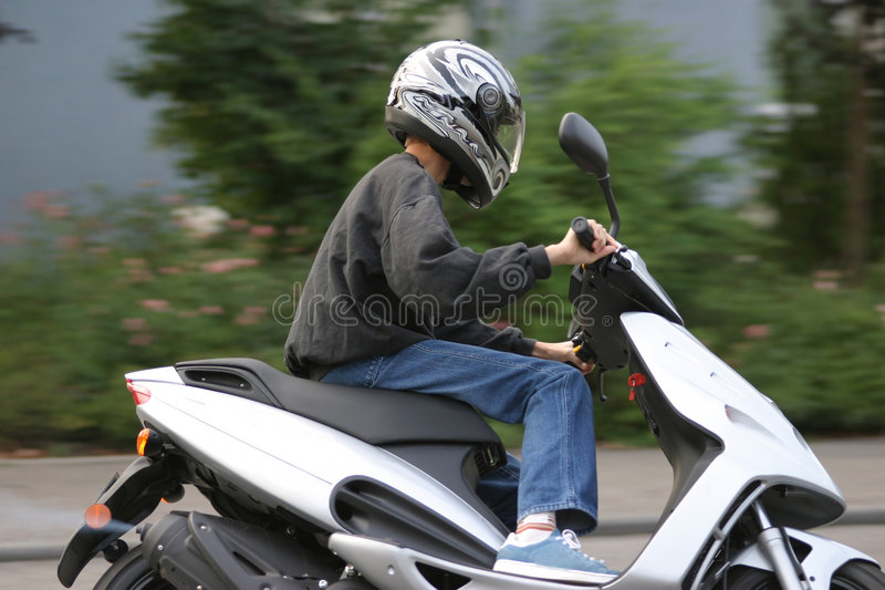 Download Young male Biker stock photo. Image of blue, teen, fast - 13318