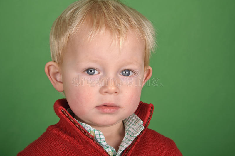 Download Young Male Child Portrait On Green Screen Stock Photo - Image: 18524348
