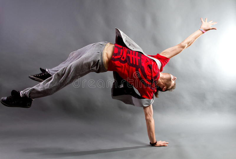 Young male dancer royalty free stock photography