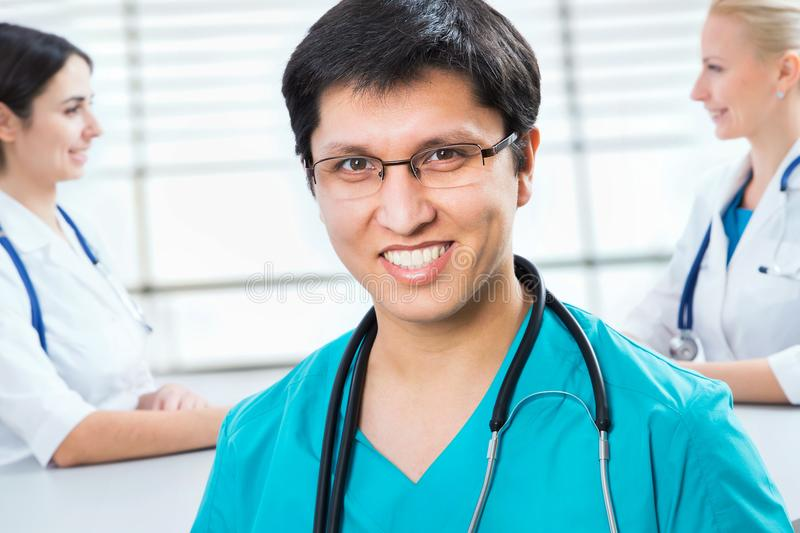 Young male doctor stock photos