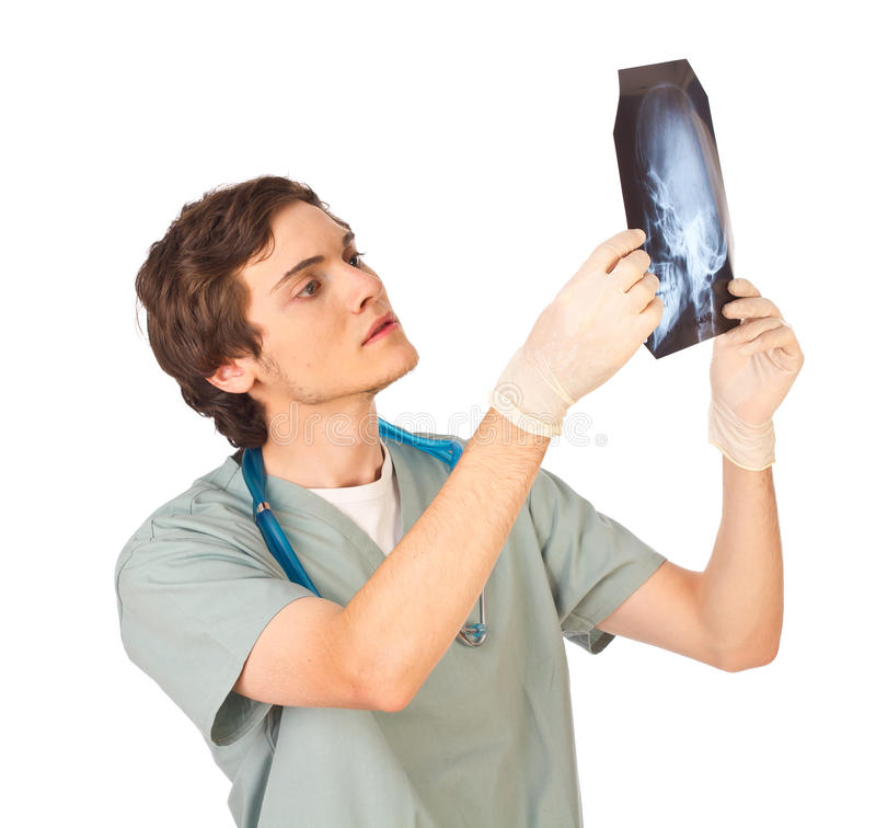 Free Young Male Doctor With X-ray Stock Images - 19777444