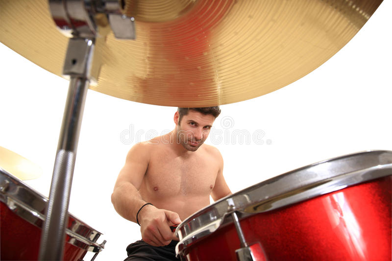 Download Young male drummer stock image. Image of play, skill - 24655983