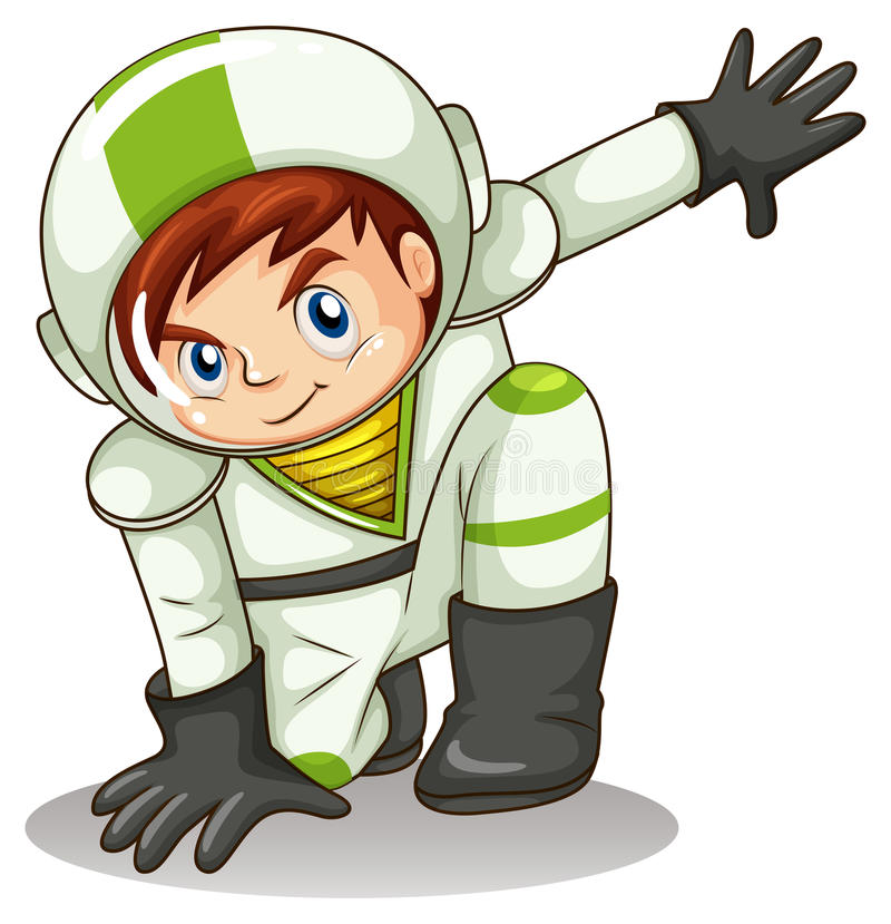 A young male explorer stock illustration