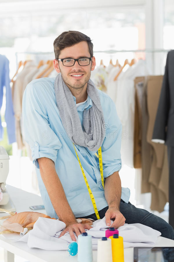 Young Male Fashion Designer At Work Stock Photo Image Of Camera Clothes 39188802