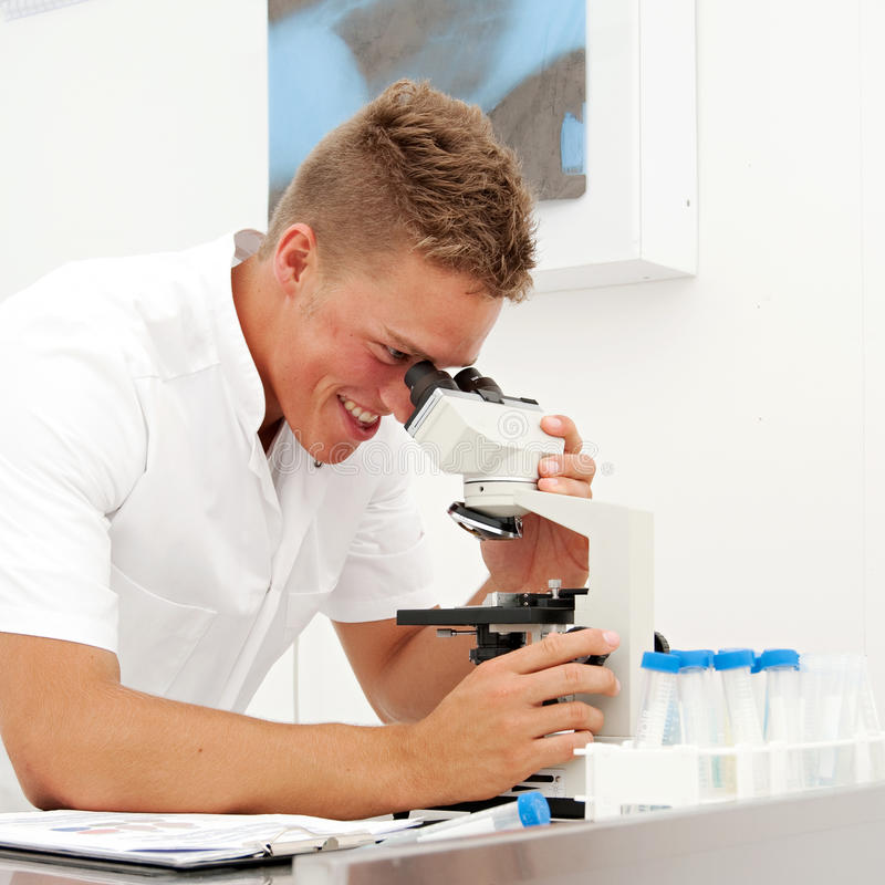 Download Young Male Lab Technician 07 Stock Image - Image: 12489391