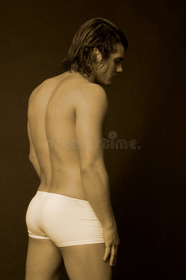 Download Young Male With Long Hair Inshorts Stock Photo - Image: 1175526