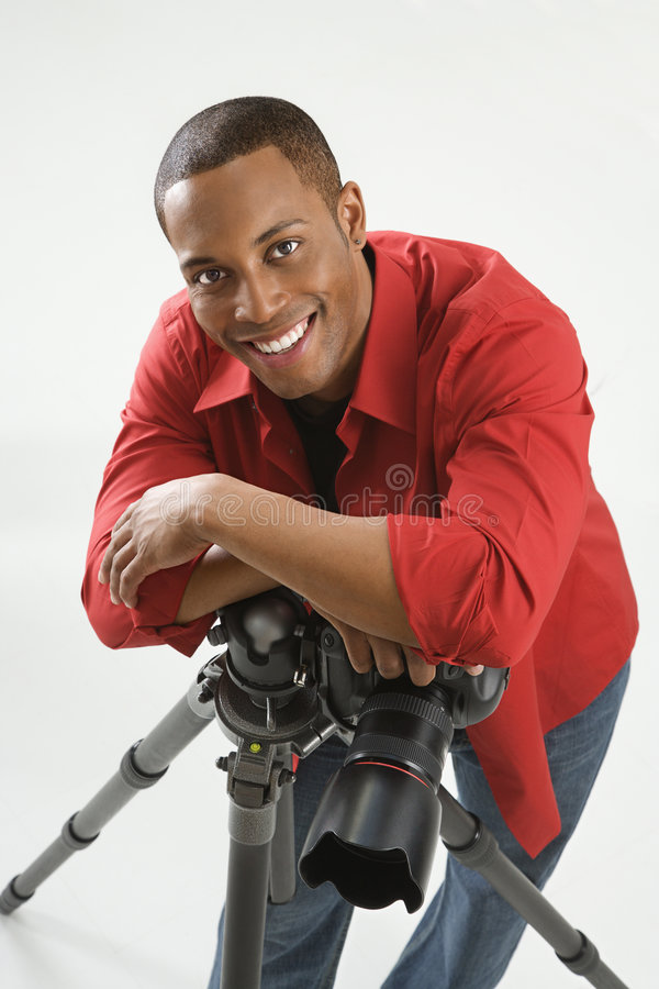 Free Young Male Photographer. Royalty Free Stock Image - 2044456