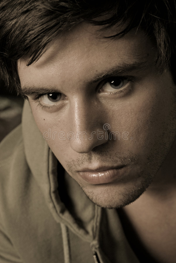 Download Young male portrait stock image. Image of look, intense - 2312093