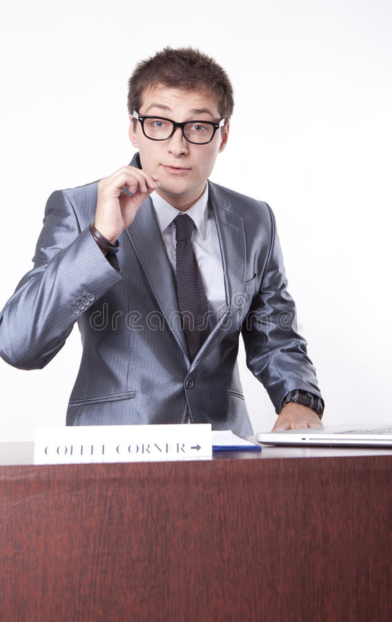 Young Male Receptionist Royalty Free Stock Image