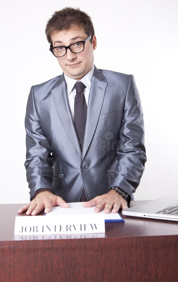 Young Male Receptionist Stock Image