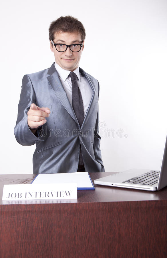 Young Male Receptionist Stock Photography