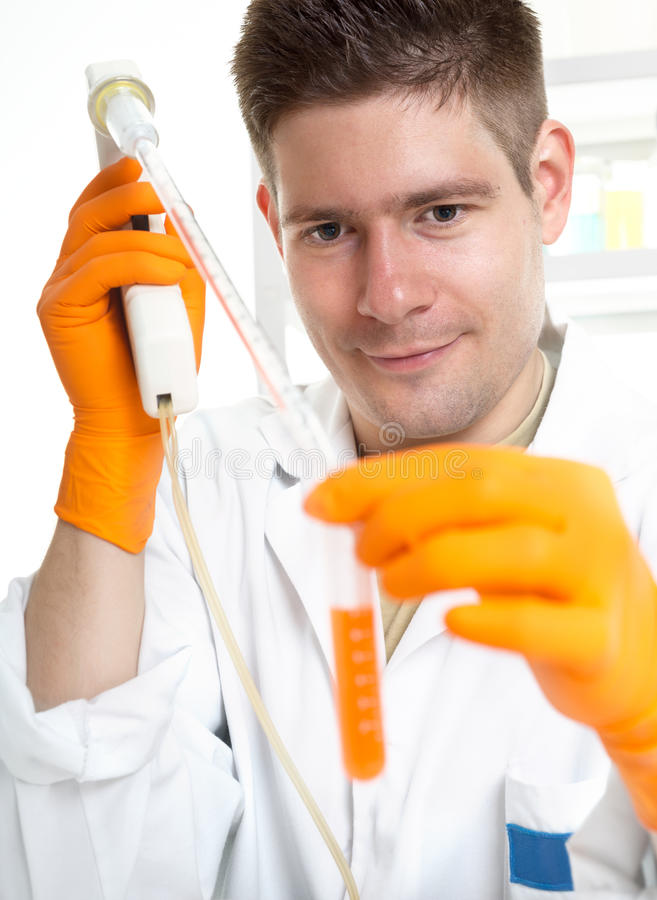 Young Male Scientist At Work Royalty Free Stock Photos