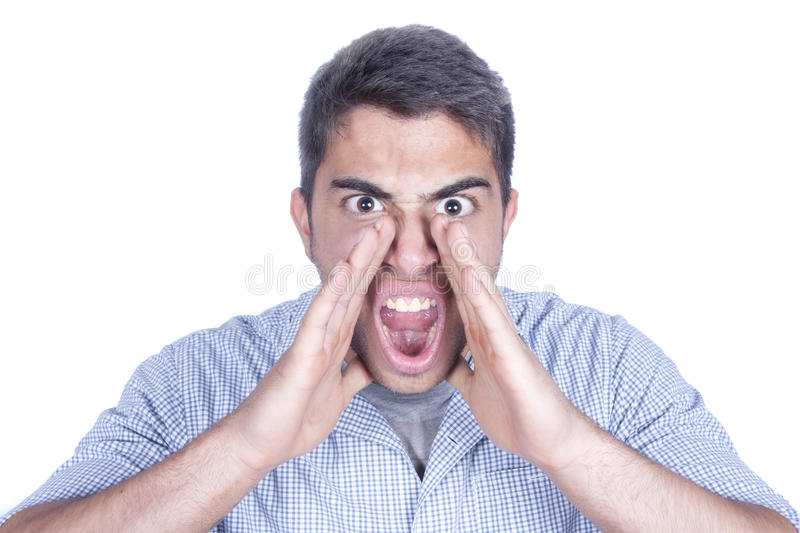 Shouting male royalty free stock photo