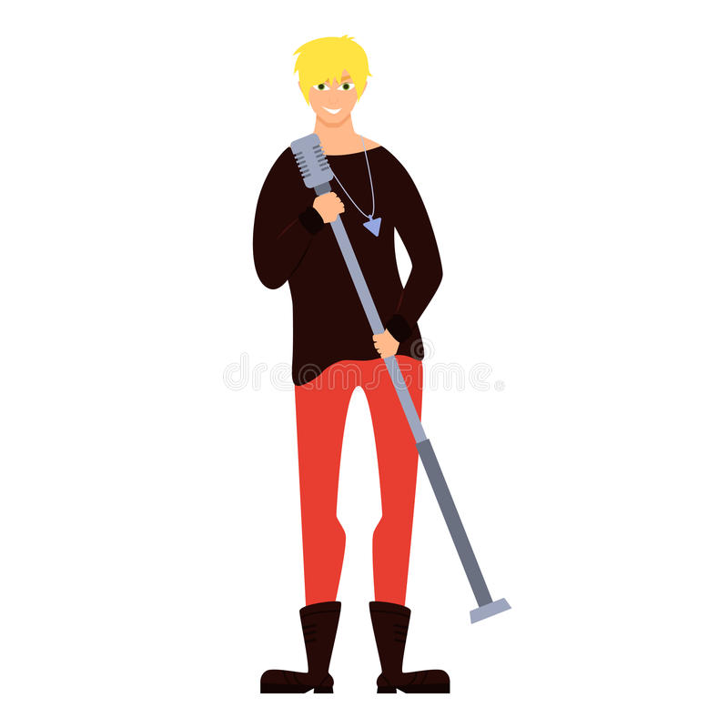 Young male singer stock illustration