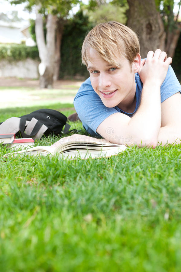 Young male student royalty free stock photography