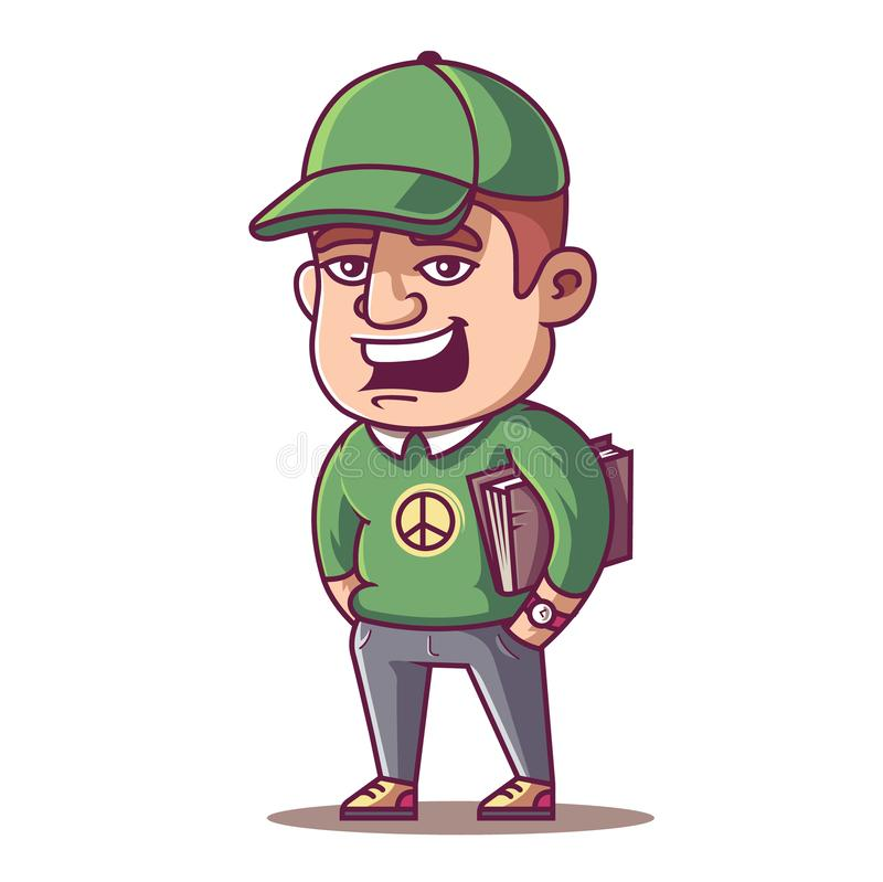 Young male student royalty free illustration