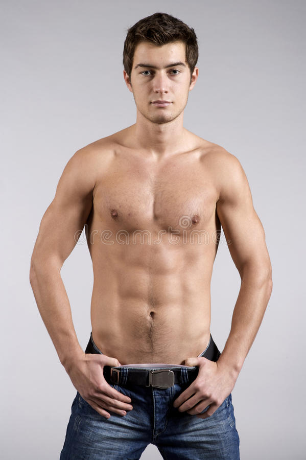 Young male underwear model stock photos