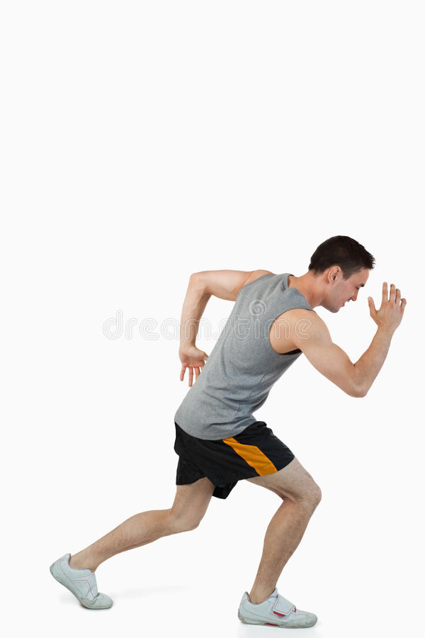 Young Male Warming Up Before Training Royalty Free Stock Images