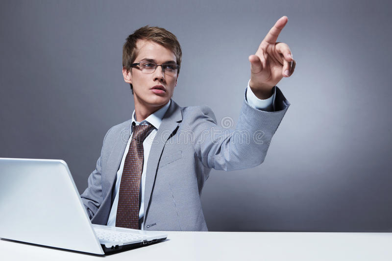 A young man stock photo
