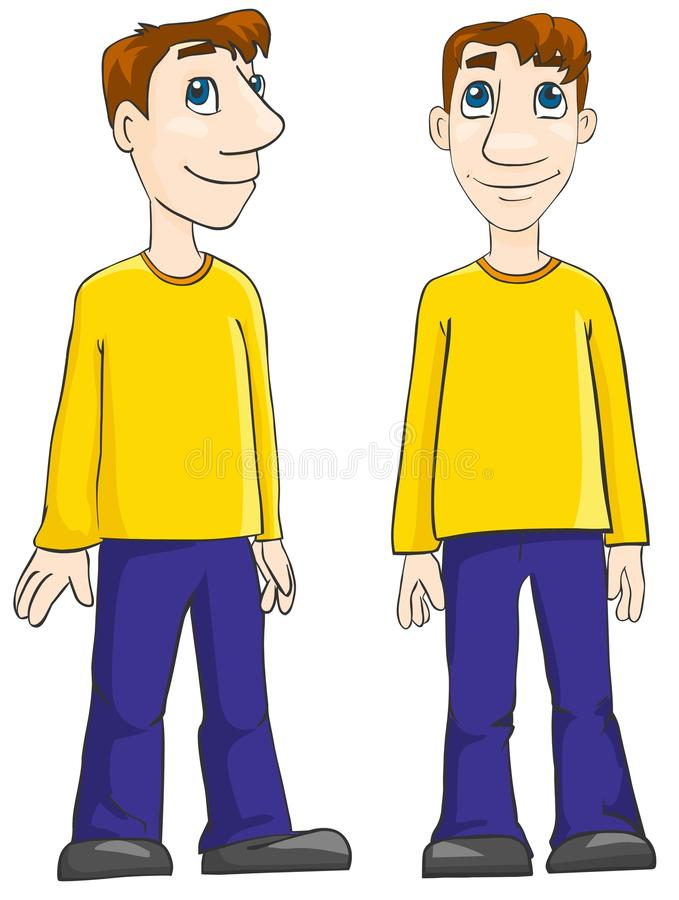 Young man stock illustration