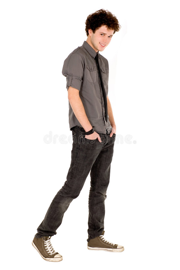 Download Young man stock image. Image of energy, student, outstretched - 7070049