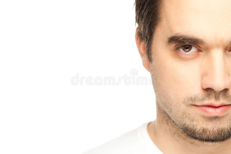 Download Young Man Against The Wall, Half Face Stock Photography - Image: 30746432