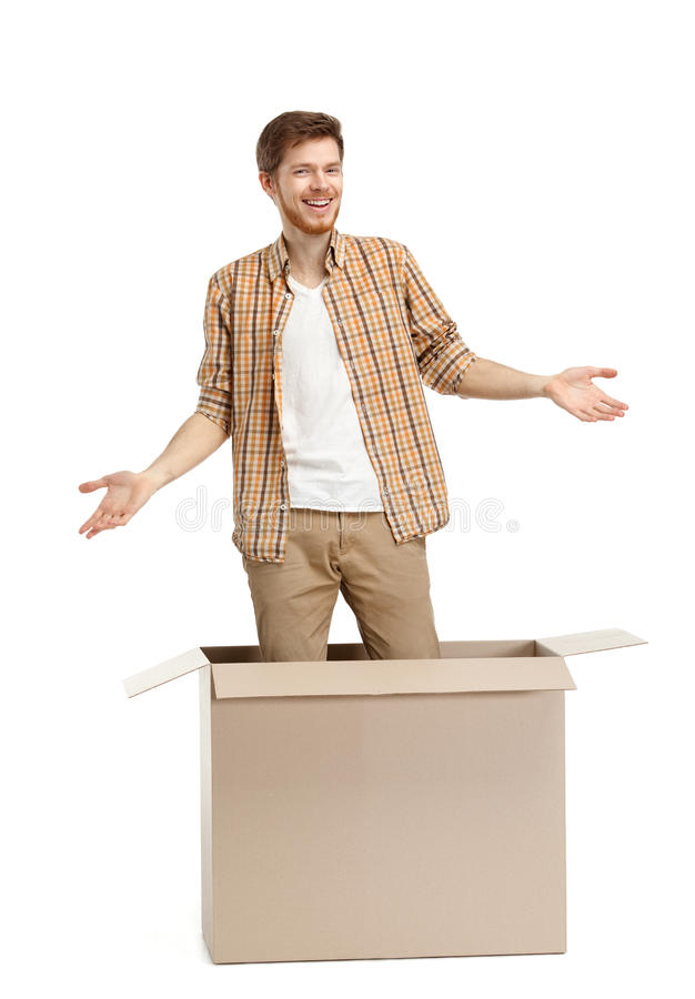 Download Young man is amazed stock image. Image of delightful - 26193589