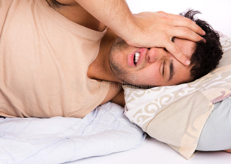 Download Young Man Annoyed By The Noise Stock Image - Image: 18997233