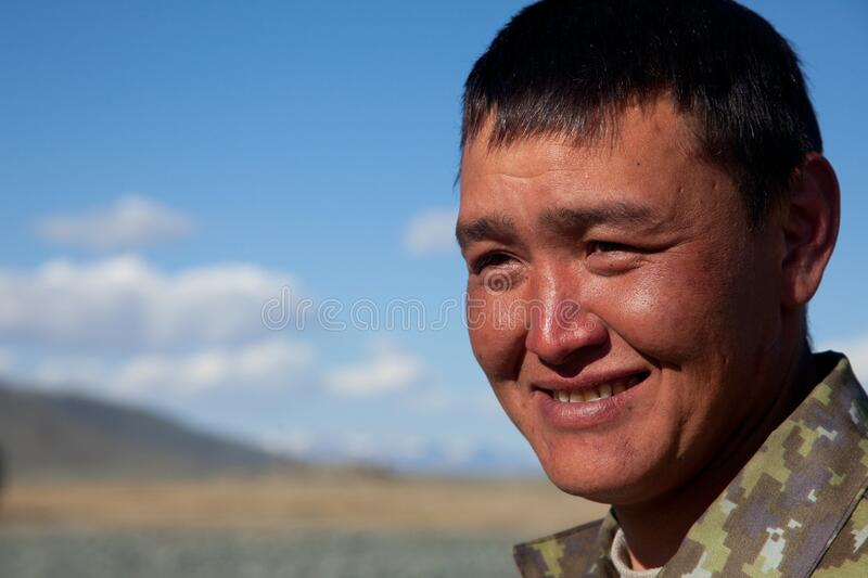 A young man of Asian. Appearance outdoors royalty free stock images