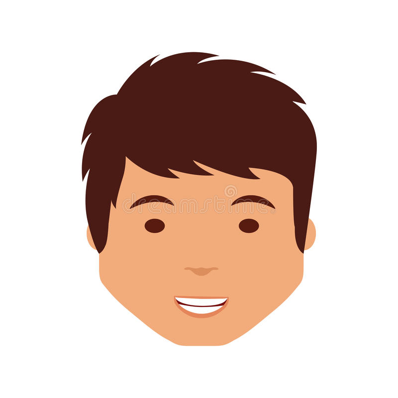 Young man avatar character. Illustration design stock illustration