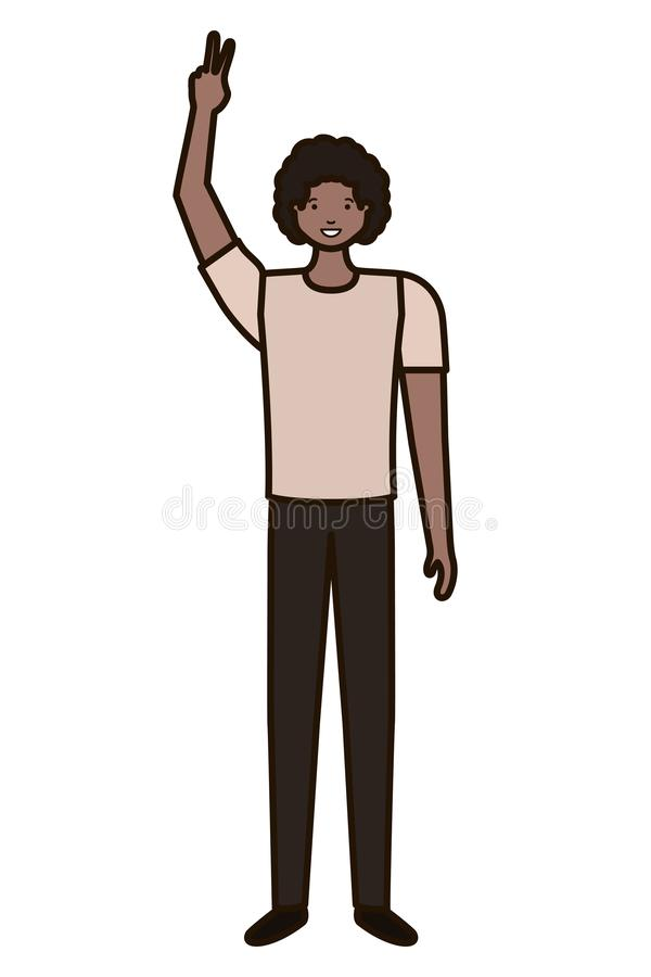 Young man avatar character stock illustration