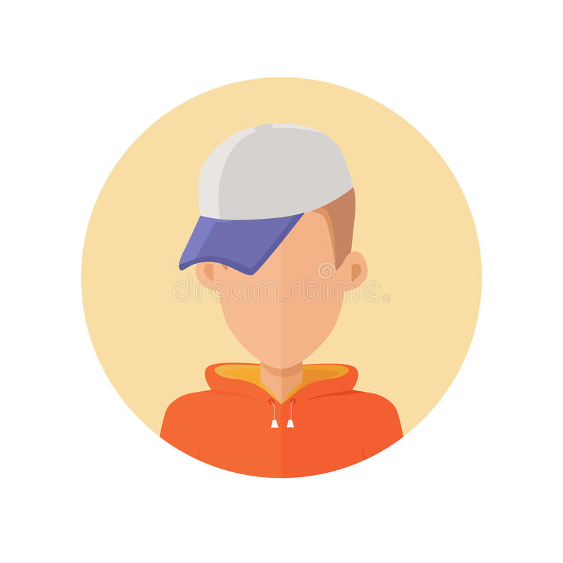 Young Man Avatar without Facial Features. stock illustration