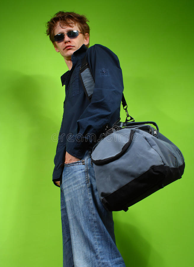 Download Young Man With The Bag, Traveler Stock Image - Image: 11081751