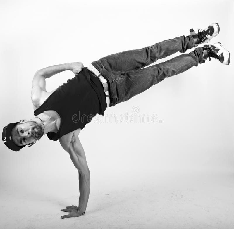 Bboy hand stand royalty free stock photos