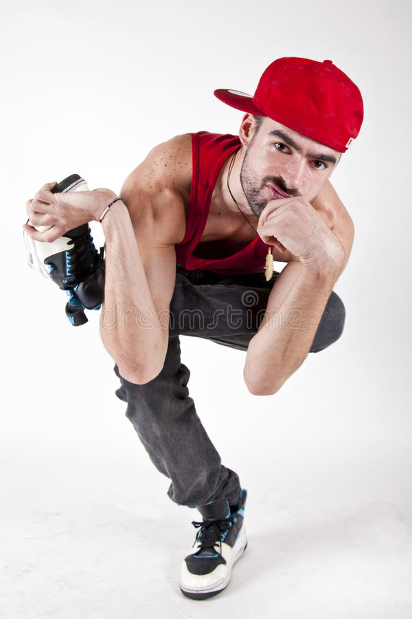 Serious bboy royalty free stock photography