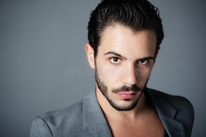Download Young man with beard stock image. Image of single, bare - 16720359