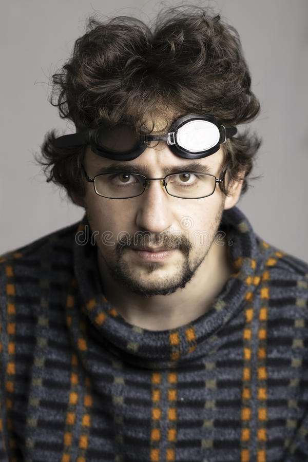 Download Young Man With The Beard And Glasses Stock Image - Image: 13220785