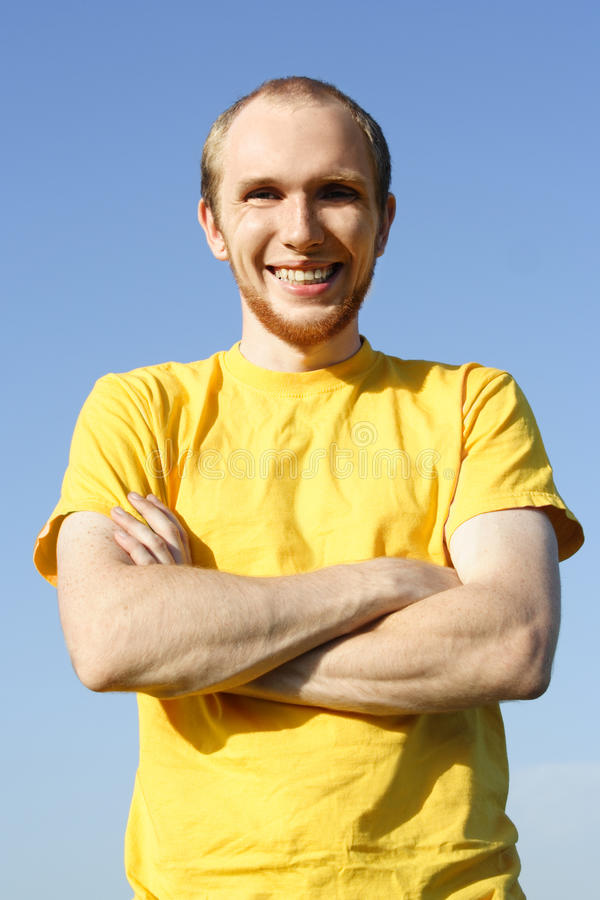 Download Young Man With Beard Standing And Smiling Stock Photo - Image: 19452784