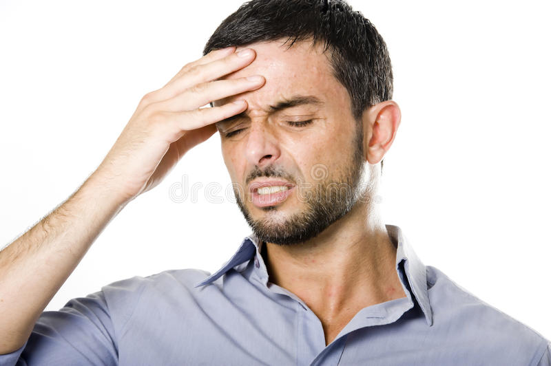 Download Young Man With Beard Suffering Headache Stock Image - Image: 33129601
