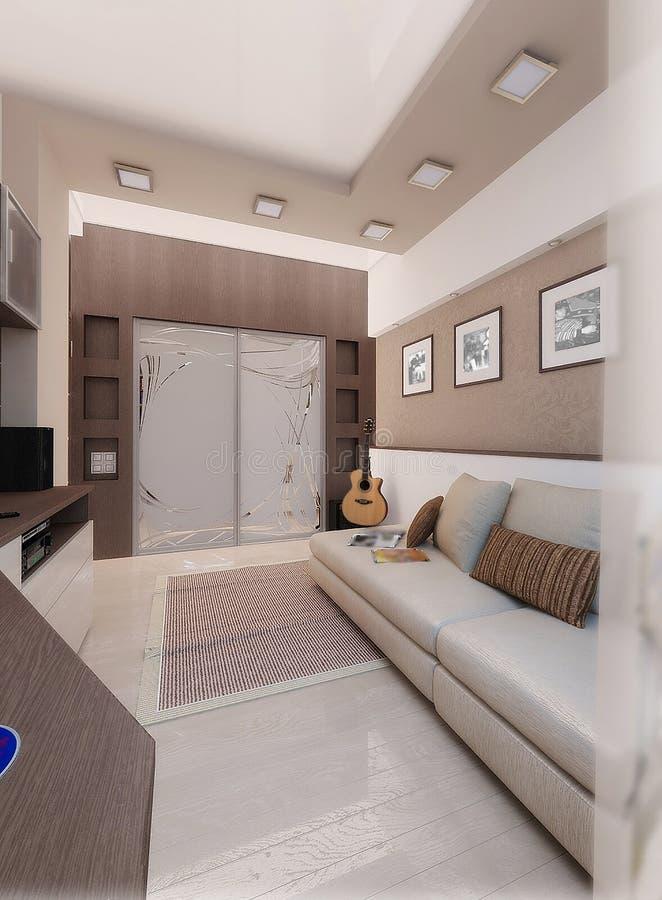 Renders 3d For Master Bedroom Project: Young Man Bedroom, Interior Design, Render 3D Stock