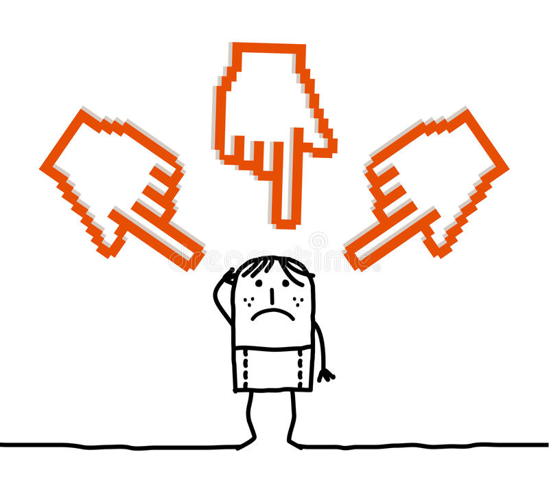 Download Young Man & Big Pointing Cursors Stock Photography - Image: 18446612