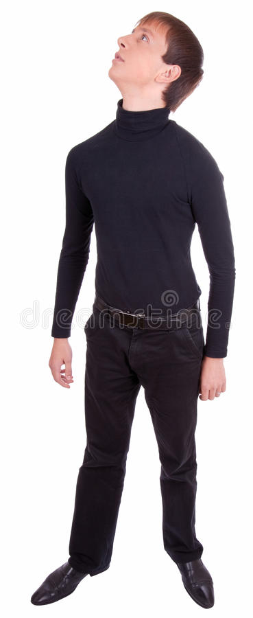 Download Young man in black stock image. Image of sweater, head - 11359989