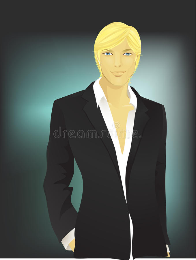 Young man-blond vector illustration