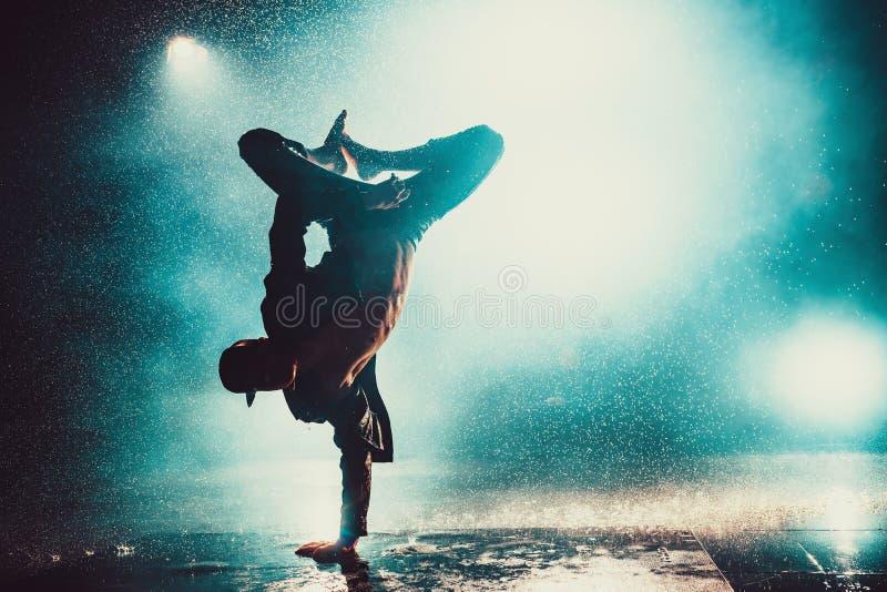 Young man dancing royalty free stock photos