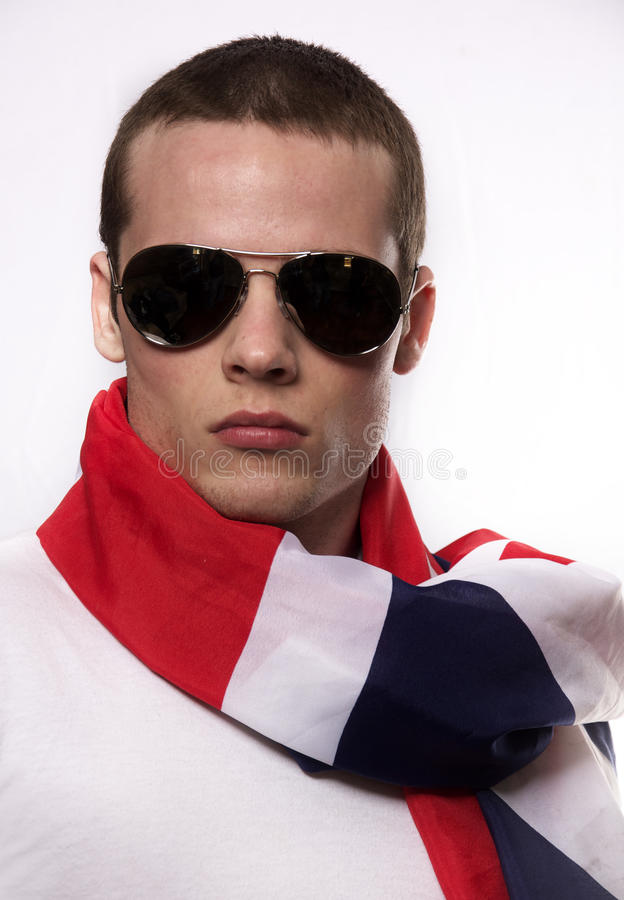 Young Man With British Flag Royalty Free Stock Image