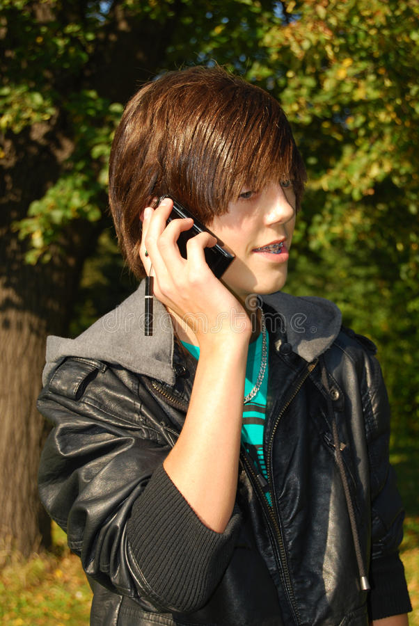Download Young man calling stock image. Image of blue, countryside - 16209129