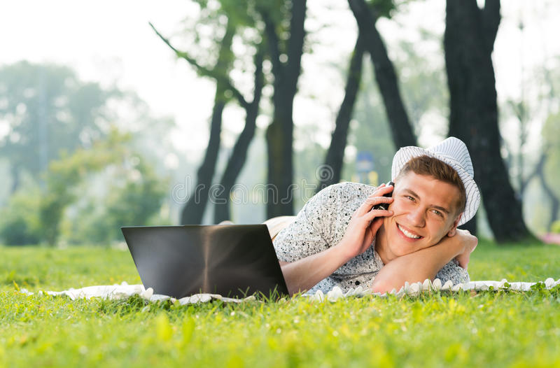 Download Young Man With A Cell Phone Stock Photo - Image: 35329332